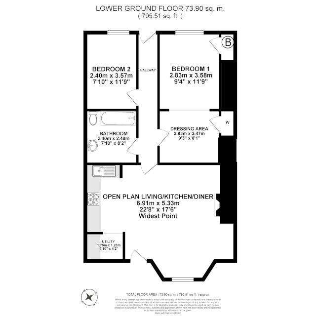 Floorplan - lower ground floor