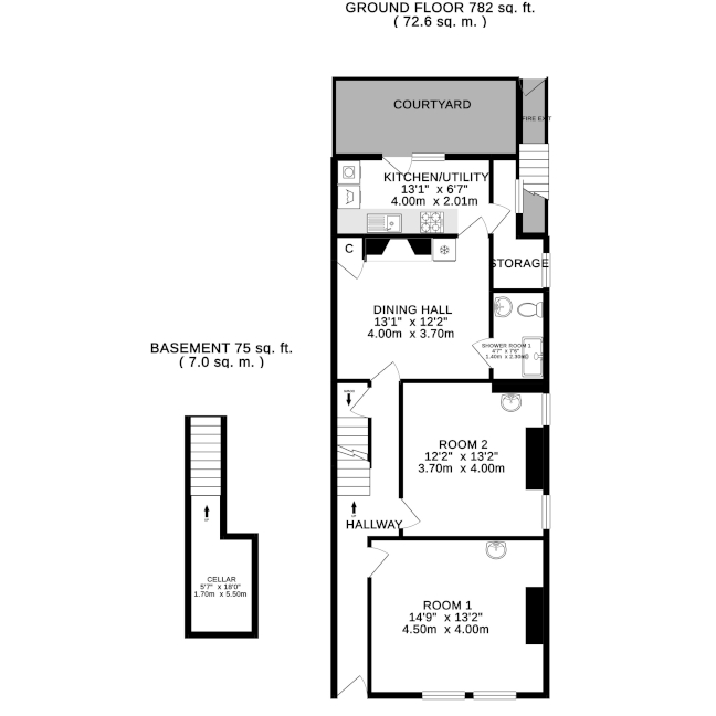 floorplan - basement & ground floor