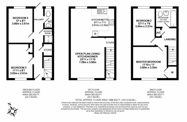 Sutton SM1 3EY - Floorplan